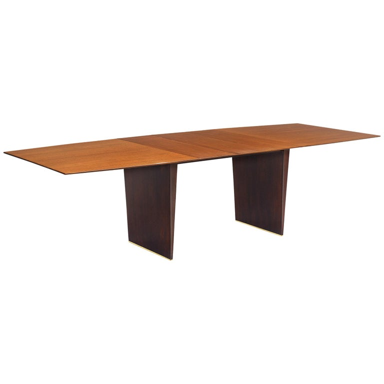 Edward Wormley Extendable Dining Table in Tawi For Sale