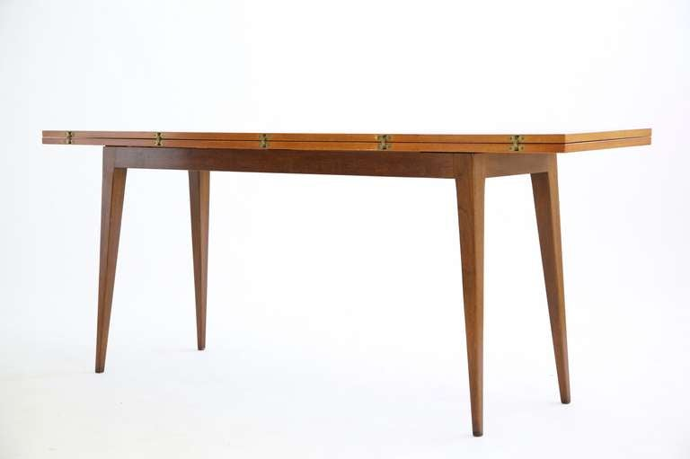 Mid-Century Modern Edward Wormley Flip-Top Console Table For Sale