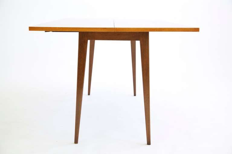 Walnut Edward Wormley Flip-Top Console Table For Sale