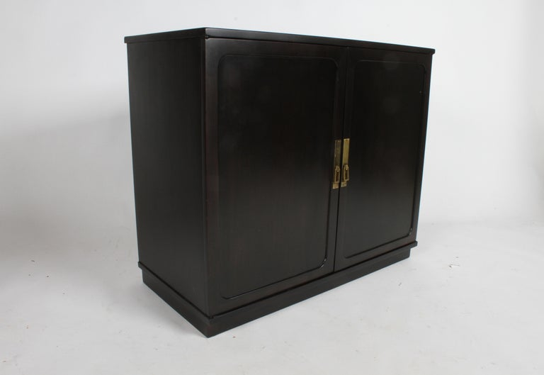 Brass Edward Wormley for Drexel Precedent Collection Cabinet For Sale