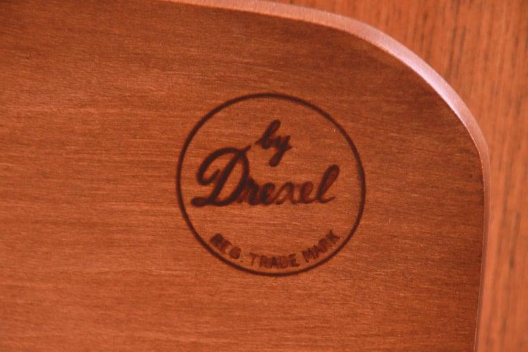 Edward Wormley for Drexel Precedent Elm Wood Sideboard or Bar Cabinet, 1950s For Sale 6