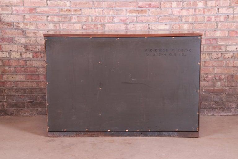 Edward Wormley for Drexel Precedent Elm Wood Sideboard or Bar Cabinet, 1950s For Sale 8