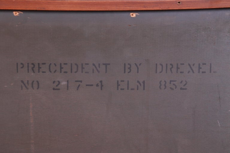 Edward Wormley for Drexel Precedent Elm Wood Sideboard or Bar Cabinet, 1950s For Sale 9