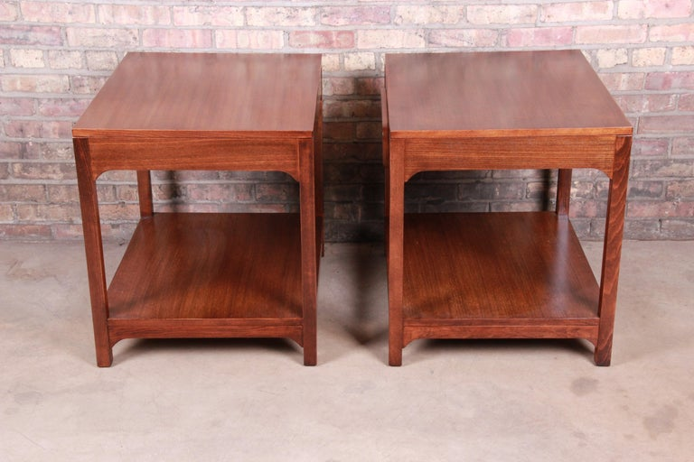 Edward Wormley for Drexel Precedent Mid-Century Modern Nightstands, Refinished For Sale 5