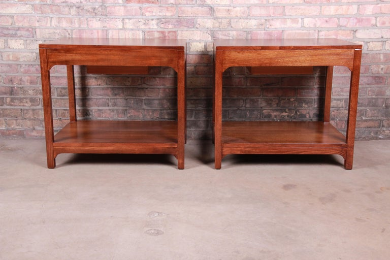 Edward Wormley for Drexel Precedent Mid-Century Modern Nightstands, Refinished For Sale 6