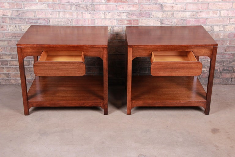 Edward Wormley for Drexel Precedent Mid-Century Modern Nightstands, Refinished For Sale 1