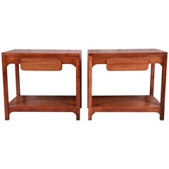 Edward Wormley for Drexel Precedent Mid-Century Modern Nightstands, Refinished