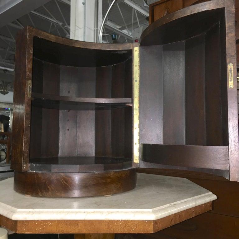 Edward Wormley for Dunbar #6302C Pedestal Drum Bar Cabinet For Sale 3