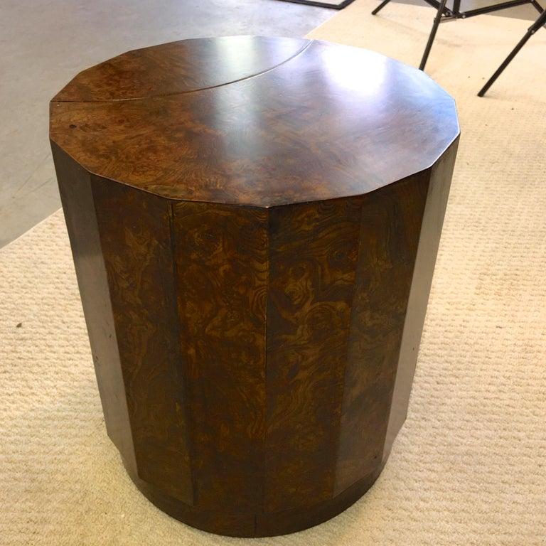 Edward Wormley for Dunbar #6302C Pedestal Drum Bar Cabinet For Sale 4
