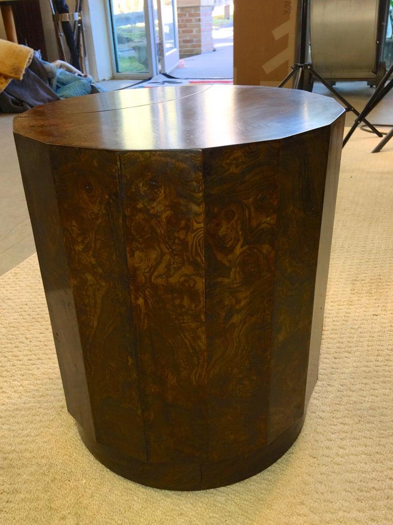 Edward Wormley for Dunbar #6302C Pedestal Drum Bar Cabinet For Sale 5