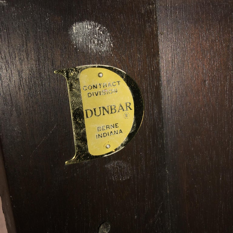 Edward Wormley for Dunbar #6302C Pedestal Drum Bar Cabinet For Sale 9