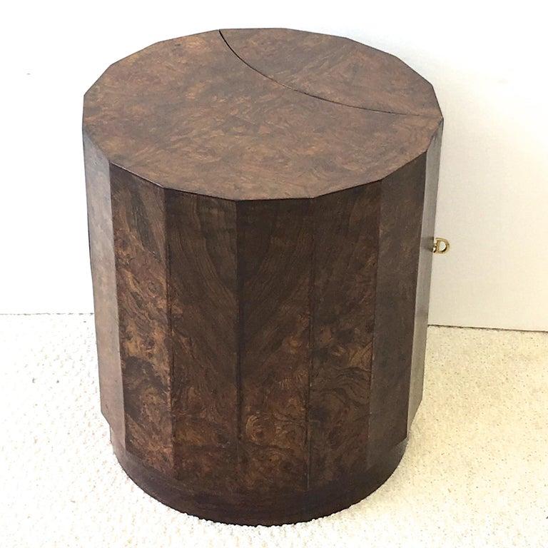 Edward Wormley for Dunbar #6302C Pedestal Drum Bar Cabinet For Sale 10