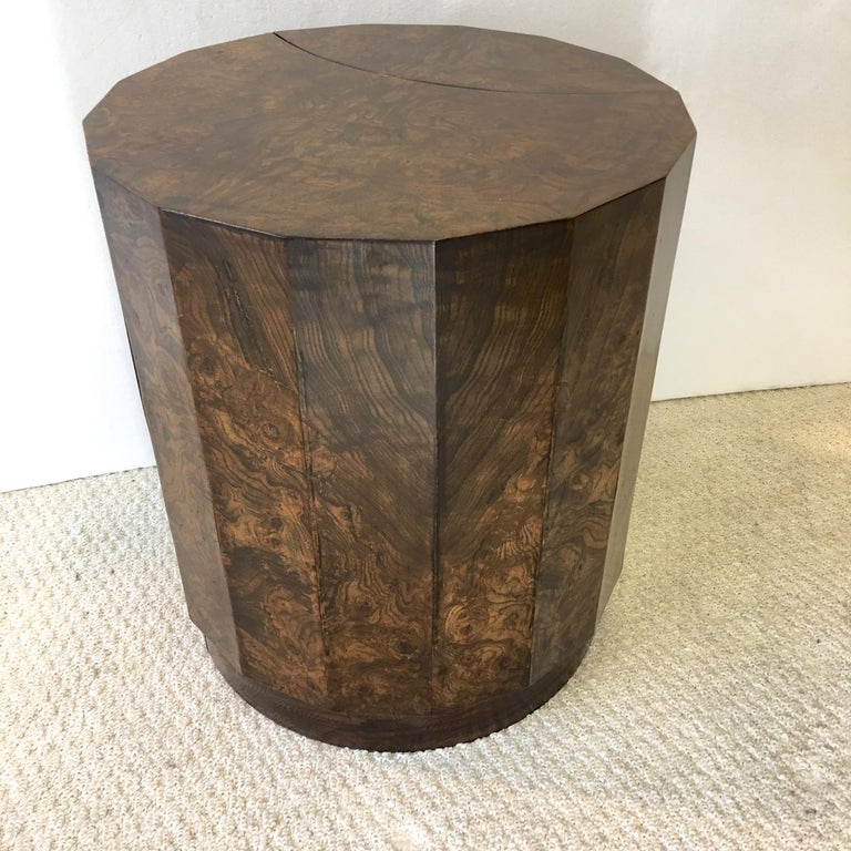 Edward Wormley for Dunbar #6302C Pedestal Drum Bar Cabinet For Sale 11
