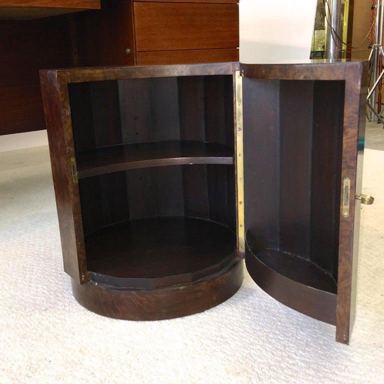 Edward Wormley for Dunbar #6302C Pedestal Drum Bar Cabinet For Sale 2