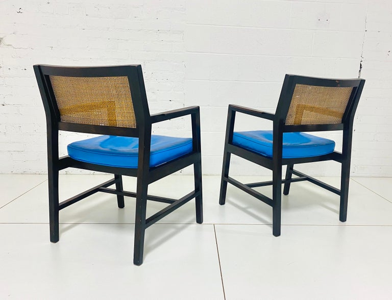 Leather Edward Wormley for Dunbar Armchairs For Sale