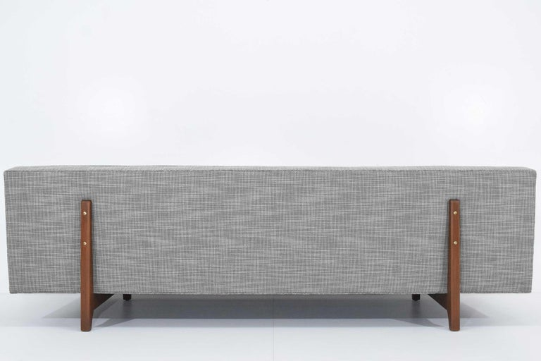 Edward Wormley for Dunbar Bracket Back Sofa's in New Upholstery For Sale 5