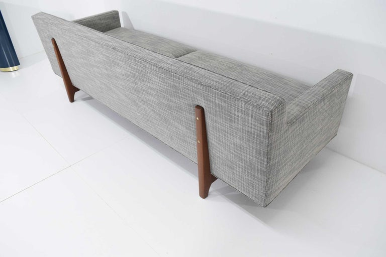 Edward Wormley for Dunbar Bracket Back Sofa's in New Upholstery For Sale 7