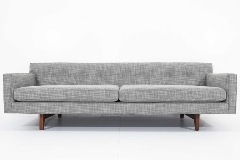 20th Century Edward Wormley for Dunbar Bracket Back Sofa's in New Upholstery For Sale