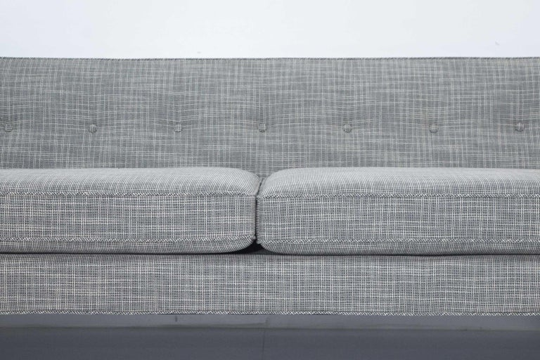 Edward Wormley for Dunbar Bracket Back Sofa's in New Upholstery For Sale 1