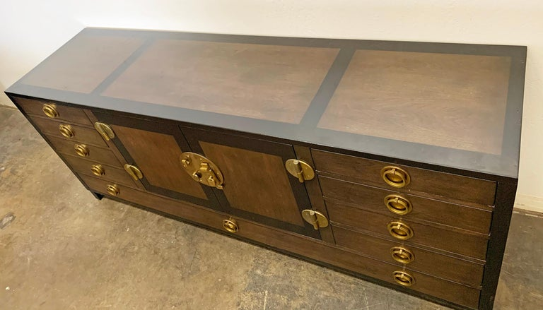 Mid-Century Modern Edward Wormley for Dunbar Cabinet / Credenza in Mahogany and Walnut For Sale