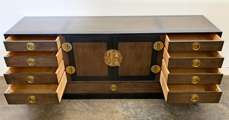 Edward Wormley for Dunbar Cabinet / Credenza in Mahogany and Walnut For Sale 2