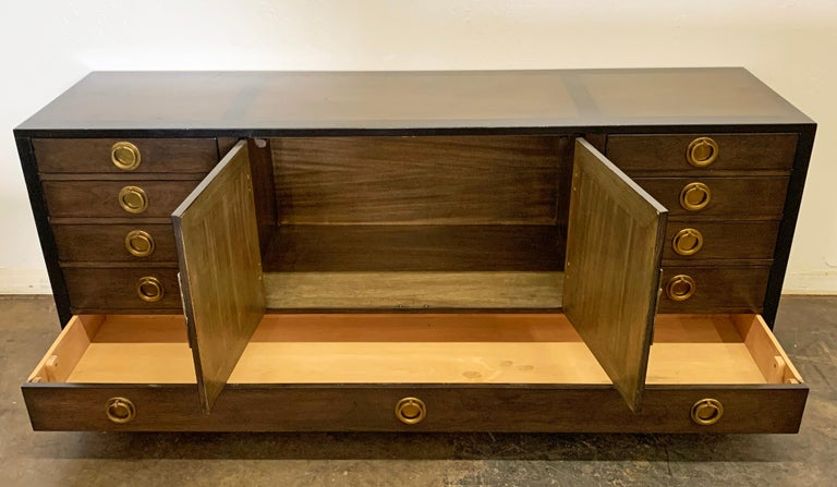 Edward Wormley for Dunbar Cabinet / Credenza in Mahogany and Walnut For Sale 3