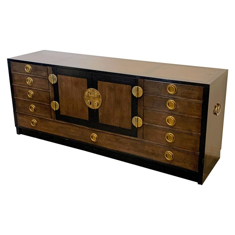 Edward Wormley for Dunbar Cabinet / Credenza in Mahogany and Walnut For Sale
