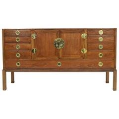 Edward Wormley for Dunbar Cabinet with Brass Hardware, 1950s