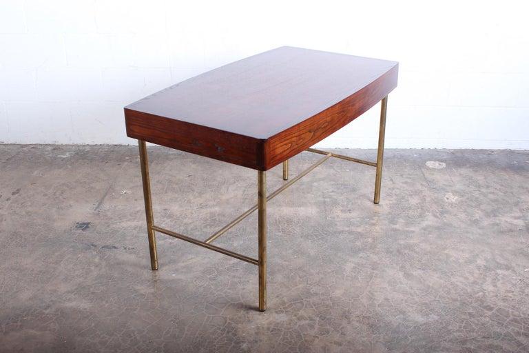 Edward Wormley for Dunbar Desk with Brass Base For Sale 7