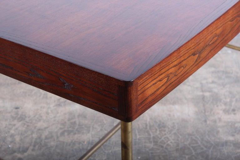 Edward Wormley for Dunbar Desk with Brass Base For Sale 8