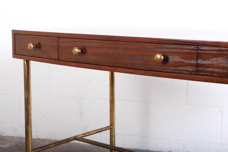 Edward Wormley for Dunbar Desk with Brass Base For Sale 10