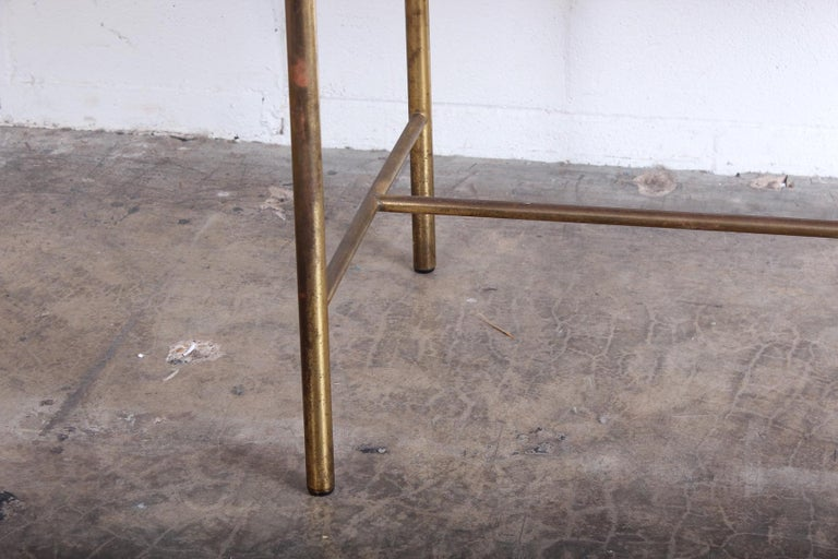 Mid-20th Century Edward Wormley for Dunbar Desk with Brass Base For Sale