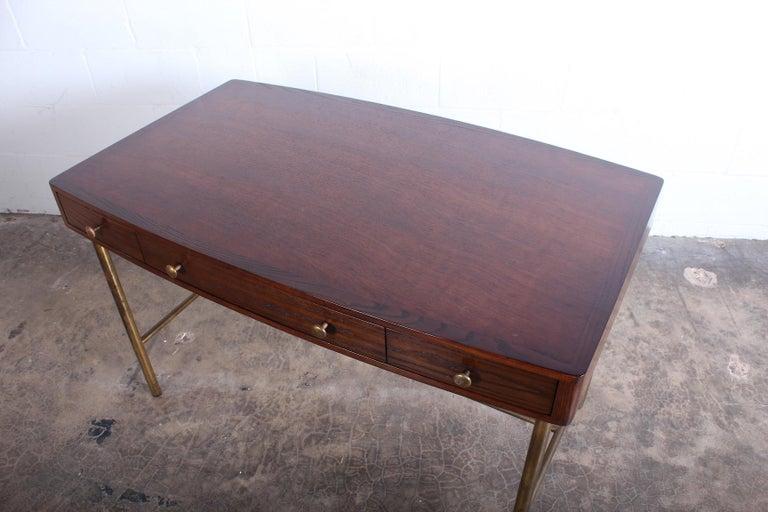 Edward Wormley for Dunbar Desk with Brass Base For Sale 1