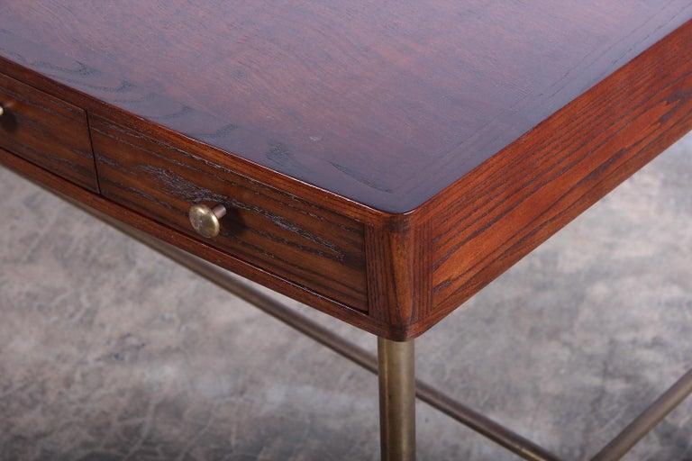 Edward Wormley for Dunbar Desk with Brass Base For Sale 2