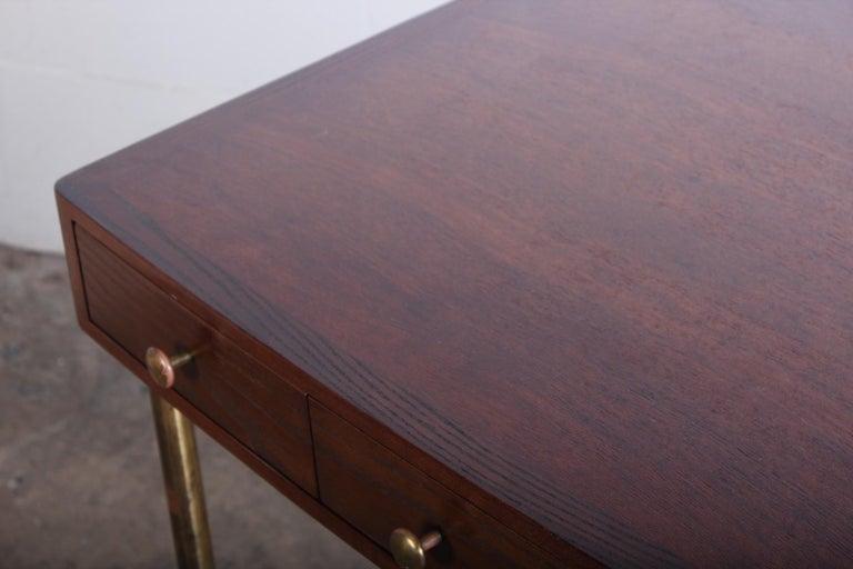 Edward Wormley for Dunbar Desk with Brass Base For Sale 3