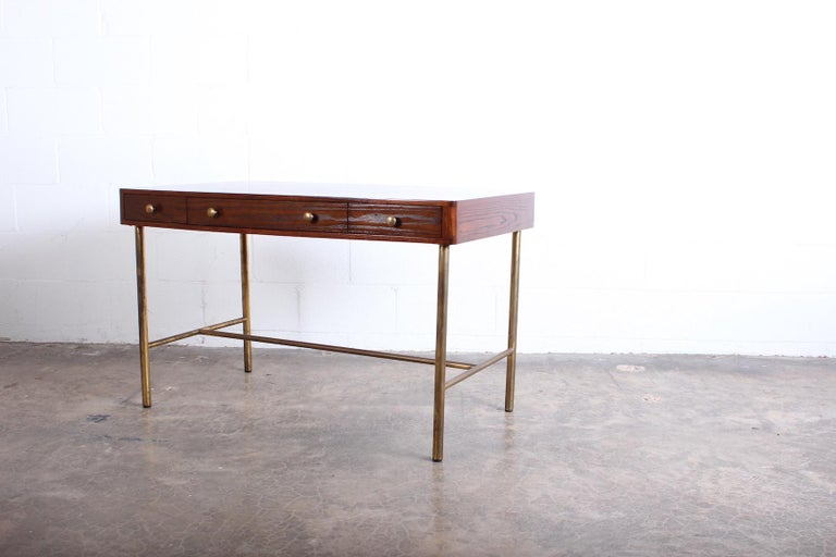 Edward Wormley for Dunbar Desk with Brass Base For Sale 4