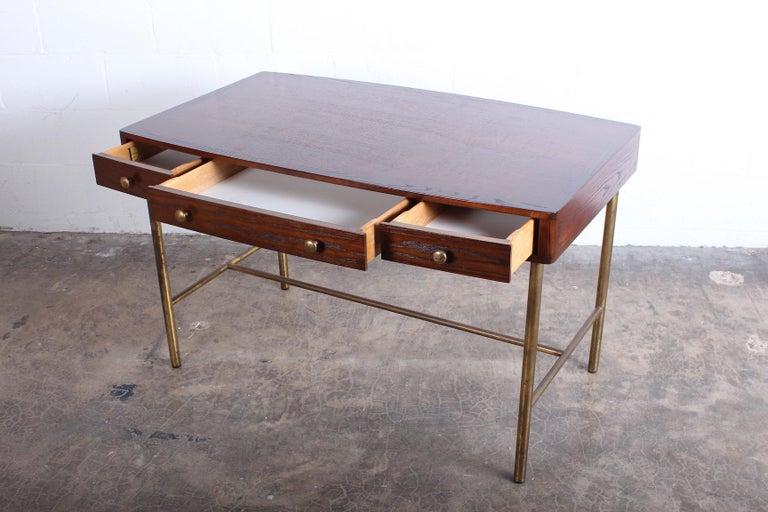 Edward Wormley for Dunbar Desk with Brass Base For Sale 5