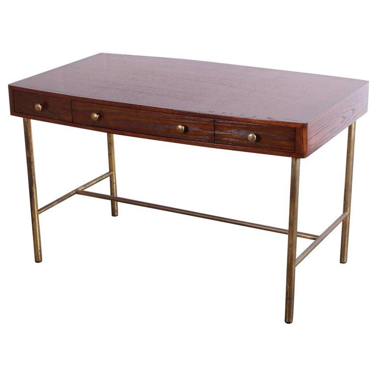 Edward Wormley for Dunbar Desk with Brass Base For Sale