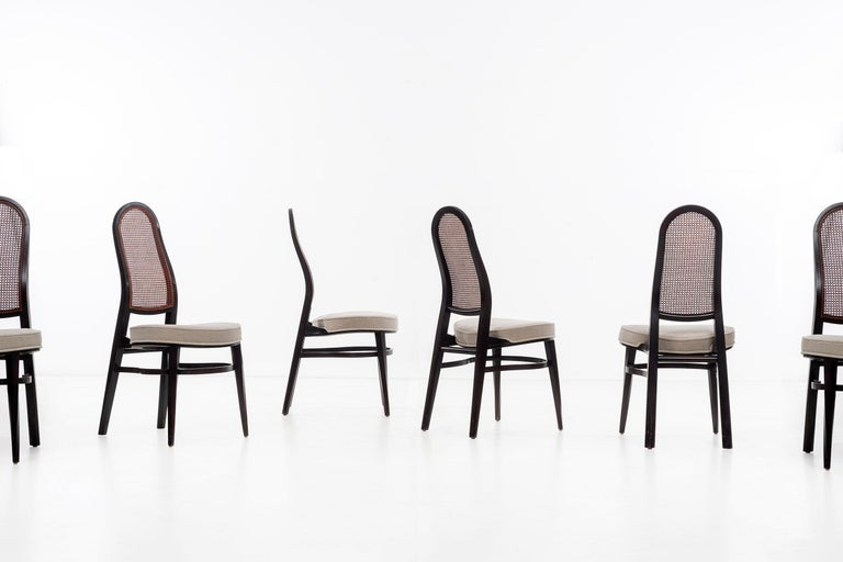 Cane Edward Wormley for Dunbar Dining Chairs For Sale