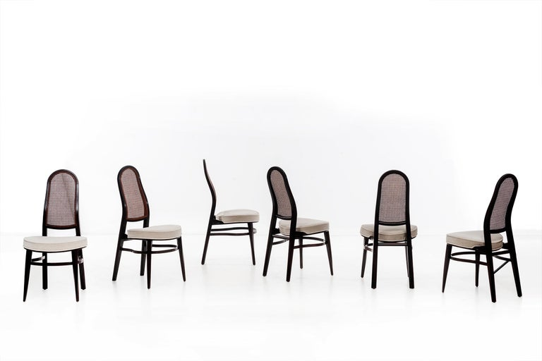 Edward Wormley for Dunbar Dining Chairs For Sale 1