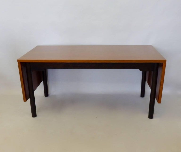 Mid-Century Modern Edward Wormley for Dunbar Drop Leaf Dining Table Desk or Conference Table For Sale