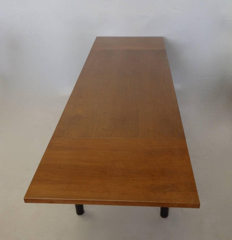 Edward Wormley for Dunbar Drop Leaf Dining Table Desk or Conference Table In Excellent Condition For Sale In Ferndale, MI