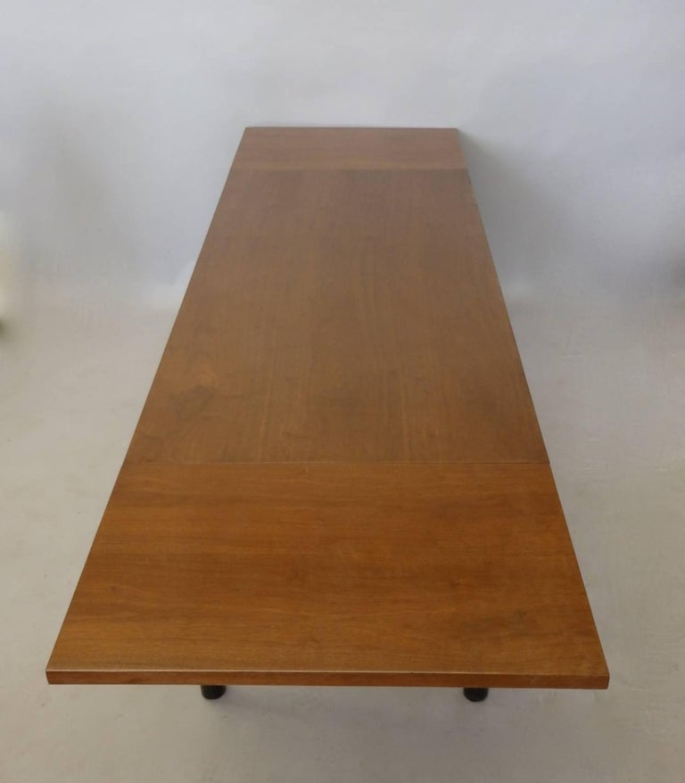 Walnut Edward Wormley for Dunbar Drop Leaf Dining Table Desk or Conference Table For Sale
