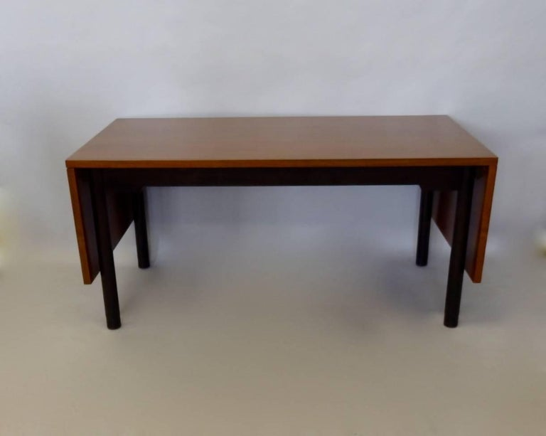 Edward Wormley for Dunbar Drop Leaf Dining Table Desk or Conference Table For Sale 1