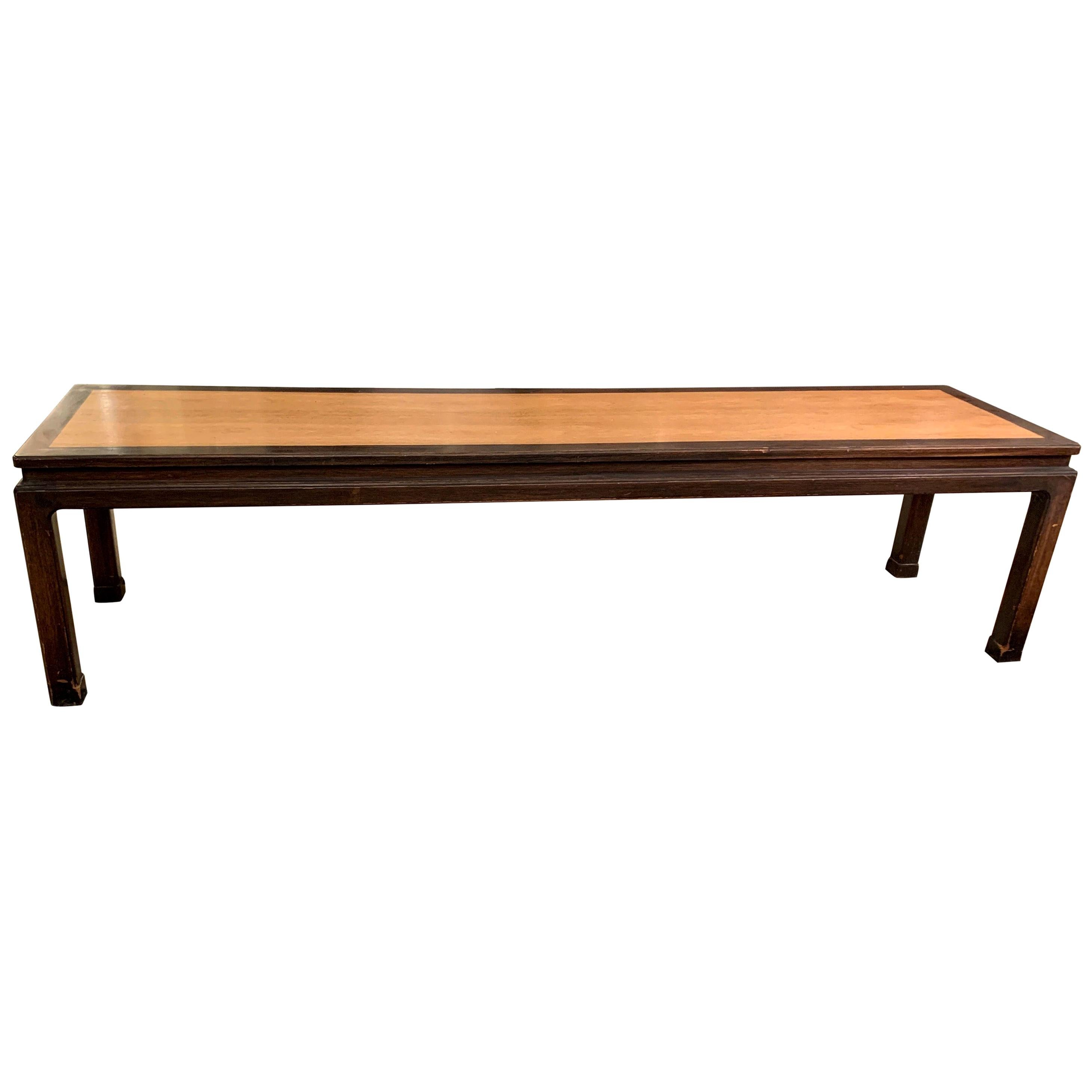Edward Wormley for Dunbar Early Long Coffee Table or Bench, Early 1950s