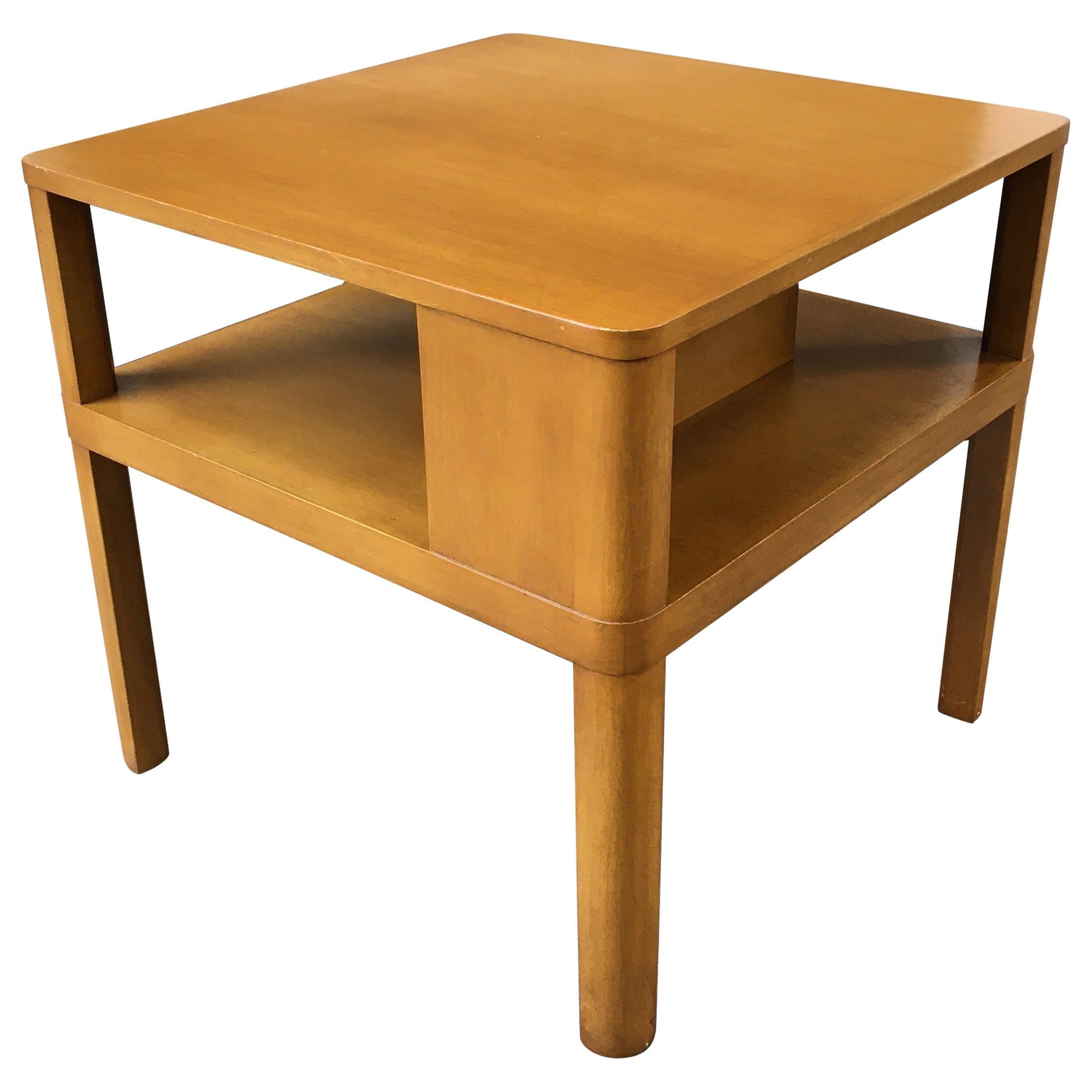 Edward Wormley for Dunbar End Table with Book Shelf