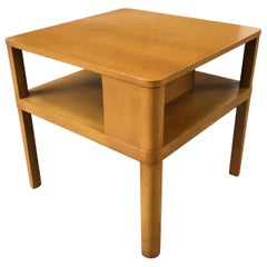 Edward Wormley for Dunbar End Table with Book Shelf