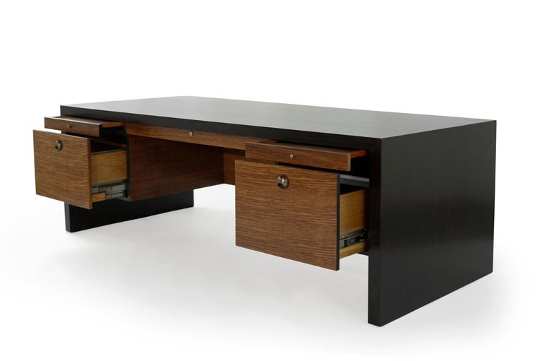 20th Century Edward Wormley for Dunbar Executive Desk and Chair Set, circa 1950s For Sale