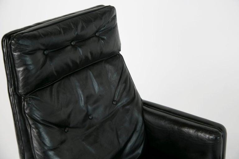 Mid-20th Century Edward Wormley for Dunbar Executive Highback Leather Desk Chair, circa 1960 For Sale