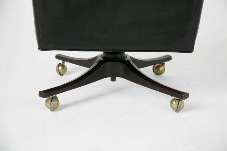 Edward Wormley for Dunbar Executive Highback Leather Desk Chair, circa 1960 For Sale 3